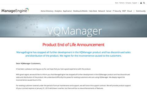 VoIP monitoring software solution - ManageEngine VQManager