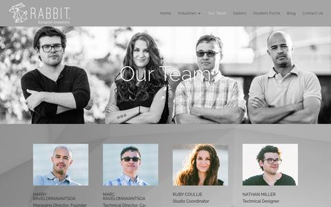 Screenshot of Team Page therealrabbit.com - Our Team | Rabbit - captured Feb. 13, 2016