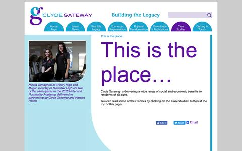 Screenshot of Case Studies Page clydegateway.com - Clyde Gateway - captured July 14, 2016