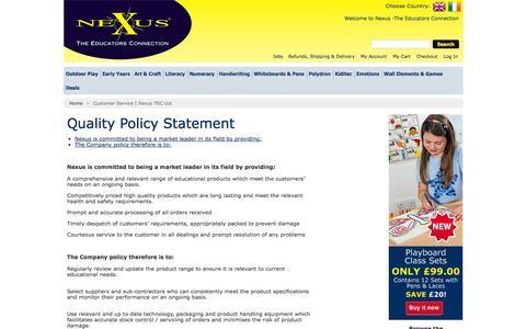 Screenshot of Support Page nexus-euro.co.uk - Customer Service  I  Nexus TEC Ltd  | Nexus - captured Oct. 6, 2014