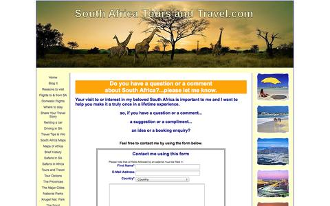 Screenshot of Privacy Page south-africa-tours-and-travel.com - Contact South Africa Tours and Travel - captured Oct. 30, 2014