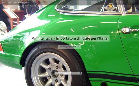 Screenshot of Home Page minilite.it - Minilite Italia – Importatore Ufficiale per l'Italia | Per info: (+39) 335 6621137 - captured Feb. 10, 2016