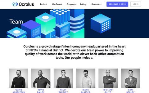 Screenshot of Team Page ocrolus.com - Team – Ocrolus - captured July 16, 2019