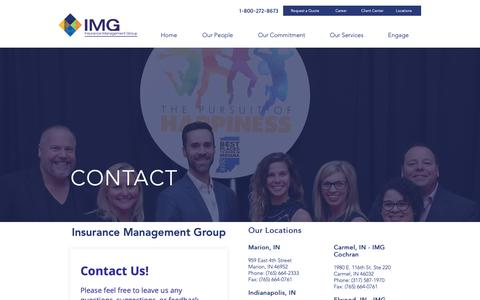 Screenshot of Contact Page Locations Page insmgt.com - IMG | Locations - captured Oct. 12, 2018
