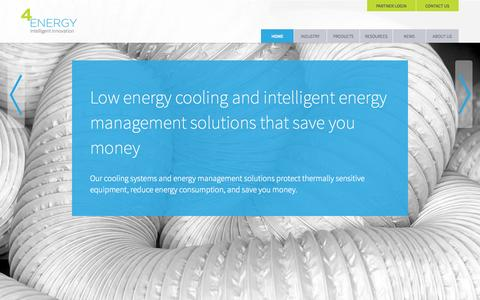 Screenshot of Home Page 4energy.co.uk - 4energy | Low energy cooling & intelligent energy management solutions that save money - captured Sept. 30, 2014