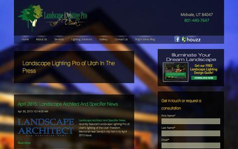 Screenshot of Press Page utahlights.com captured Dec. 22, 2015