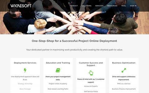 Screenshot of Services Page project-online.com - Project Online | Project Online Services - captured July 9, 2018