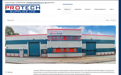 Screenshot of About Page protechsupplies.co.uk - Protech Supplies Ltd, , Protech Supplies Limited - About Us - captured Oct. 3, 2014
