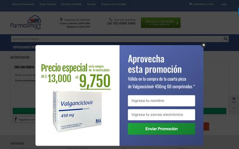 Screenshot of Signup Page Login Page farmasmart.com - Registro de Usuario ¡Nuevo cliente! Crear cuenta |FarmaSmart - FarmaSmart - captured Nov. 8, 2018