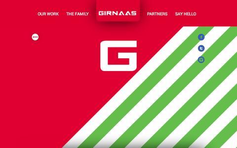Screenshot of Home Page girnaas.com - GIRNAAS Studio - captured Sept. 30, 2014