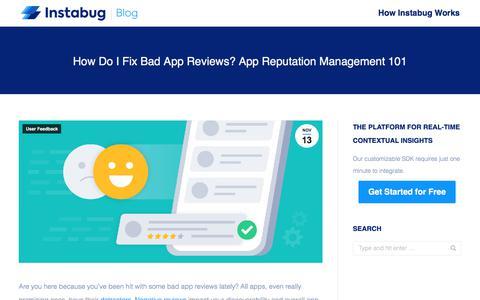 Screenshot of Team Page instabug.com - How Do I Fix Bad App Reviews? App Reputation Management 101 | Instabug Blog - captured Dec. 3, 2019