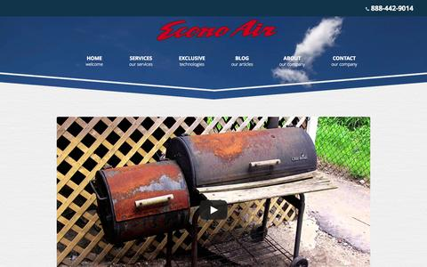 Screenshot of About Page e-conoair.com - About | Econo Air | Southern California - captured Sept. 30, 2014