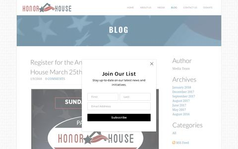 Screenshot of Blog thehonorhouse.org - Honor House - Blog - captured Jan. 19, 2018