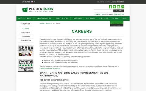 Careers  |  Plastek Cards | Promotional Plastic Card Printing & Manufacturing