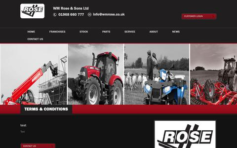 Screenshot of Terms Page wmrose.co.uk - About Us | Material Handling Equipment, Used Construction & Agricultural Equipment, Scotland, UK - captured Oct. 18, 2018