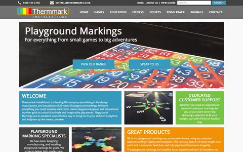 Screenshot of Home Page playgroundmarkingsdirect.co.uk - Playground Markings | Thermmark Installs Ltd. - captured Dec. 10, 2015