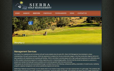 Screenshot of Services Page sierragolfmanagement.com - Management Services | Sierra Golf Management - captured Feb. 14, 2016