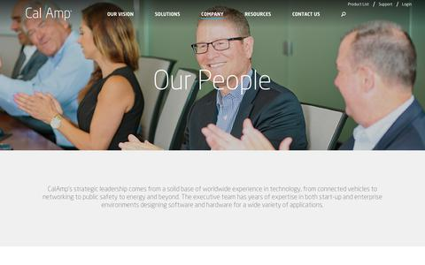 Screenshot of Team Page calamp.com - Leadership - CalAmp - captured March 1, 2018