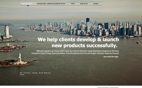 Screenshot of Home Page commonvision.ca - Management Consulting - captured Sept. 26, 2014