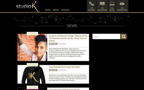 Screenshot of Press Page studiokorlando.com - News Archives - Studio K - captured Feb. 26, 2016