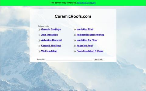 Screenshot of Home Page ceramicroofs.com - CeramicRoofs.com - captured July 16, 2018