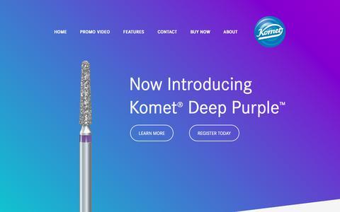 Screenshot of Home Page kometpurple.com - Komet Deep Purple – Komet USA - captured June 25, 2017