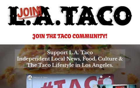 Screenshot of Signup Page lataco.com - Become a Member of L.A. TACO ~ L.A. TACO - captured Dec. 18, 2018