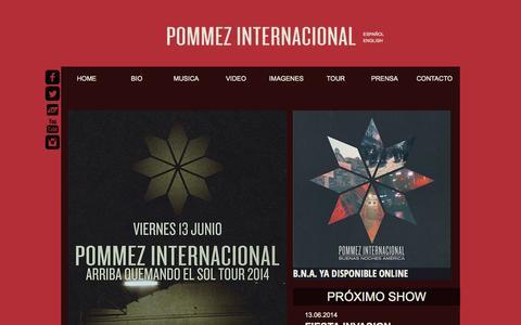 Screenshot of Home Page pommez.com.ar - POMMEZ INTERNACIONAL - captured Oct. 3, 2014