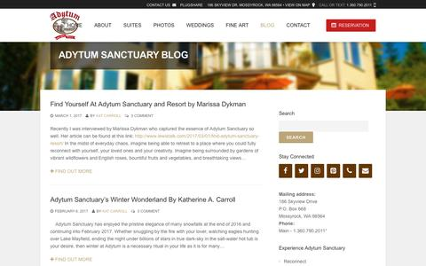 Screenshot of Blog adytumsanctuary.com - Adytum Sanctuary Blog | Adytum - captured Oct. 3, 2018