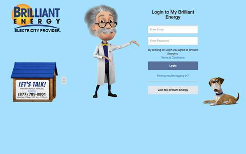Screenshot of Login Page brilliantenergy.com - Brilliant Energy - captured Oct. 11, 2017