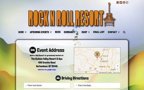 Screenshot of Maps & Directions Page rocknrollresort.com - Directions - Rock n Roll Resort - captured Oct. 22, 2017