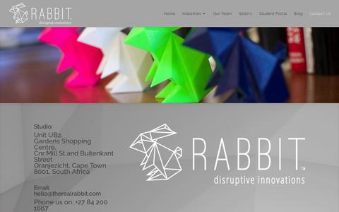 Screenshot of Contact Page therealrabbit.com - Contact Us | Rabbit - captured Feb. 13, 2016