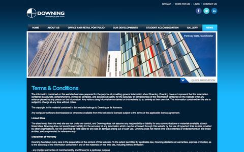 Screenshot of Terms Page downing.com - Downing is Liverpool's largest private, commercial landlord | Downing.com - captured Sept. 30, 2014