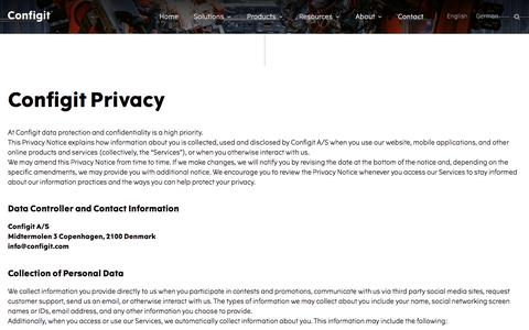 Privacy Policy – Configit