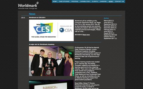 Screenshot of Press Page worldmark.com - Worldmark - captured Oct. 9, 2014