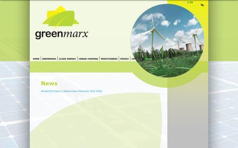 Screenshot of Press Page greenmarx.be - News | Greenmarx - captured Sept. 30, 2014