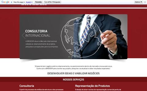Screenshot of Home Page broeder.com.br - Broeder - Consultoria e Representação de Produtos - captured Sept. 10, 2015