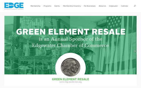 Screenshot of Home Page edgewater.org - Edgewater Chamber of Commerce - captured Sept. 27, 2018
