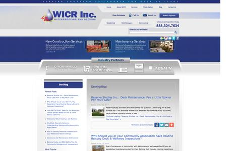 Screenshot of Blog wicr.net - Decking News & Information | Los Angeles Decking Company - captured Oct. 26, 2014