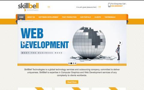 Screenshot of Home Page skillbell.com - SkillBell Technlogies Pvt. Ltd. - captured Sept. 30, 2014