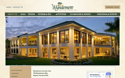 Screenshot of Maps & Directions Page wyndemere.com - Directions - Wyndemere Country Club - captured Oct. 26, 2014