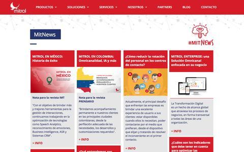 Screenshot of Blog mitrol.net - MitNews - Noticias sobre Soluciones Tecnológicas - captured Sept. 20, 2018