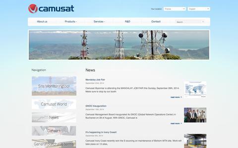 Screenshot of Press Page camusat.com - Camusat - captured Sept. 27, 2014