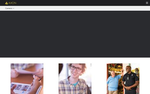 Screenshot of Jobs Page axon.com - Careers - captured July 5, 2018