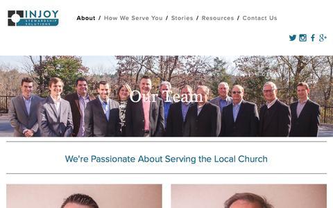 Screenshot of Team Page injoystewardship.com - INJOY Stewardship Solutions - Our Team - captured Feb. 11, 2016