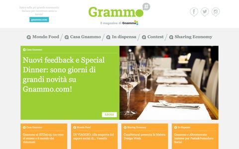Screenshot of Blog gnammo.com - Grammo : il magazine di Gnammo - captured Dec. 4, 2015