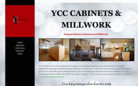 Screenshot of Home Page ycccabinets.com - YCC Cabinets | Custom Cabinets, Furniture, and Millwork - captured Dec. 15, 2015