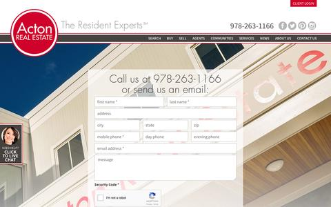 Screenshot of Contact Page acton-realestate.com - Acton Real Estate Company - captured Nov. 20, 2016