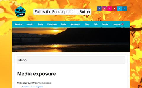 Screenshot of Press Page sultanstrail.com - Media   Sultan's Trail - captured Oct. 24, 2017