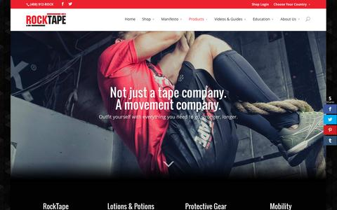 Screenshot of Products Page rocktape.com - Our Products | RockTape - captured Nov. 23, 2015